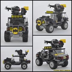 Bat Jeep Collage (WattyBricks) Tags: lego dc comics superheroes batman robin dark knight gotham bat vehicle collage