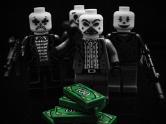 If your good at something never do it for free! (Silverio Photography) Tags: lego minifig toy joker canon 60d 24mm pancake primelens topaz adjust photoshop elements blackandwhite color comics dc batman comiccon