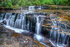 Sweet Creek Falls (pandt) Tags: sweet creek falls waterfall oregon mapleton outdoor landscape hdr long exposure slow shutter water flowing forest park trail hiking hike canon eos 7d flickr