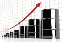 3D Increasing Oil Prices (StockMonkeys.com) Tags: 3d creativecommons oilprices crude barrel increasing graph