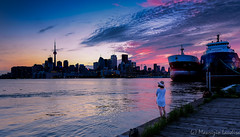 End of Day (mlaudisa) Tags: toronto pier night city skyline dusk sunset dark lake ontario polson polsonpier