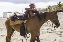 Man and Horse (yafit770) Tags: man horse beach smile panama playablanca challengeyouwinner