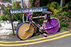 Woolly Bike (midlander1231) Tags: llywyngwril wales midwales snowdonia knitting wool