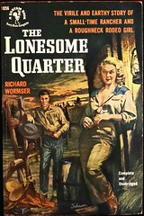 Bantam 1056 (Oct., 1952). First Printing. Cover Art by Harry Schaare (lhboudreau) Tags: bookart book books paperback paperbacks vintagepaperback vintagepaperbacks paperbackcover paperbackcovers vintagepaperbackcover vintagepaperbackcovers paperbackart coverart vintagepaperbackart paperbackbook paperbackbooks 1952 october1952 bantampaperback bantampaperbacks bantambook1056 bantam1056 novel story illustration illustrations drawing drawings bookcover bookcovers retrocover western wildwest retrocovers firstprinting westernclassic bantambooks bantam bantambook wildwestpulp gga goodgirlart sexybookcover sexy sexycover sexypaperbackcover rancher roughneck rodeogirl lonesomequarter thelonesomequarter richardwormser wormser schaare harryschaare