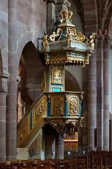 glise Sainte-Foy de Slestat (imanh) Tags: kerk interieur preekstoel houtsnijwerk iman heijboer imanh elzas church interior pulpit woodcarving
