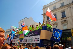 Justin Lloyd - Mortgage Medics (zawtowers) Tags: brighton sussex seaside resort city centre august 2016 warm sunny blue sky dry pride parade saturday rainbow colour celebration party atmosphere justin lloyd mortgage medics advisor fabulous advice for people