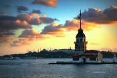 stanbul (Celalettin Gne) Tags: sky city sunset travellight clouds istanbul turkey architecture cityscape building mosque bosphorus bluemosque hagiasophia ottoman osmanl