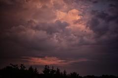 messy sky (viewsfromthe519) Tags: clouds sky trees silhouette pink purple stormy saintthomas stthomas ontario canada