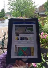 Facebook and rain 104-365 (10) (♔ Georgie R) Tags: facebook ipad rain wah werehere hereio