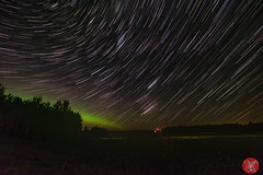 Stargazing (Kasia Sokulska (KasiaBasic)) Tags: canada elkislandnp sky night startrails aurora summer landscape fujix