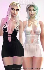 Foxes @ C88 (Dani @ Birdy/Foxes/Alchemy) Tags: sl secondlife c88 collabor88 fashion dress birthday foxes maitreya belleza venus freya mesh fitted club party glamour mini