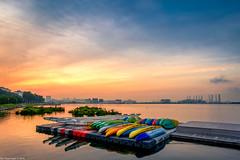 Day break (Chye Guan, Tan) Tags: sunrise landscape singapore singaporescape pandanreservior boat floatingplatform reservoir pub dragonboat fujifilm fujifilmx70 x70