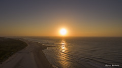Epic sunset over  Vlieland (Thomas Bartelds Photography) Tags: dji drone travel beach sunset red orange sand water sea north green