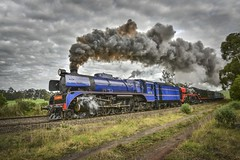 The Snow Train (phunnyfotos) Tags: phunnyfotos australia victoria vic drouin longwarry gippsland westgippsland train doubleheader steamtrain steamengine snowtrain steamrailvictoria heritage engine blue smoke steam steaming hill farm rural winter nikon d750 nikond750 countryside farming r711 r761
