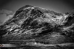 Lagangarbh Hut (Tait Images) Tags: places scotland glencoe cottage hut snow mountain buachaille etive mor stobb house outdoor rest canon landscape black white langangarng