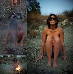 (Greta Guidotti) Tags: ritual rituale witch fire nude body nudo fuoco performance