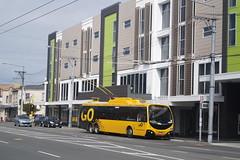 Newtown - Riddiford Street (andrewsurgenor) Tags: electric transport transit nz wellington publictransport streetscenes trolleybus trolleybuses trackless nzbus gowellington
