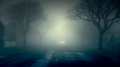 Haunted Morning (barbdunn70) Tags: travel winter weather fog dark scary gloomy earlymorning carheadlights barbaradunn