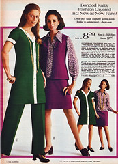 Aldens 70 fw green and purple (jsbuttons) Tags: clothing mod buttons womens 70s catalog 1970 seventies womans aldens vintagefashion