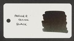 Parker Quink Black - Word Card