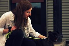 Friendship (simonoliviercloutier) Tags: dog love girl animal canon women friend friendship energie pug best spa goodtime goodpersonne goodcompagny