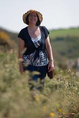 IMG_9743 (sffubs) Tags: uk portrait cliff sun holiday grass hat sunshine wales canon walking walk pembrokeshire solva 135mm bibble 2013 canonef135mmf2lusm bibblepro canoneos40d bibble5