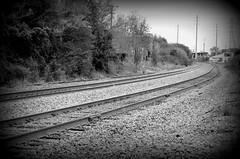 Tracks (pjpink) Tags: urban blackandwhite bw virginia spring richmond northside april rva 2015 pjpink