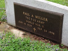 "Grandpa Paul A Miller's Grave at the Oswego Cemetery • <a style=""font-size:0.8em;"" href=""http://www.flickr.com/photos/109120354@N07/17830556592/"" target=""_blank"">View on Flickr</a>"