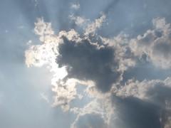 Cloudscapes #164 (tt64jp) Tags: blue light sky cloud sun white sol nature weather japan soleil solar ray shine cloudy gray wolke  nuage     nube   gunma    kiryu