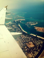 Flying over Abu Dhabi, UAE!