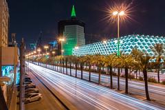 Riyadh Lit Green After Madina Attack. (Fasih Ahmed) Tags: riyadh kingfahadroad longexposure canon6d canon library riyadhcity fasih fasihahmed fasihahmedphotography saudiarabia hipa kingdom saudi