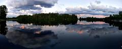 Bass Lake panorama (yooperann) Tags: sky lake clouds reflections evening skies cloudy bass michigan east upper peninsula inland gwinn
