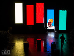 white red red blue green (genelabo) Tags: party summer rain wall sommer towers havana cuba slide vj led projection welcome fest pani kuba p1 munic colourfull vjing genelabo