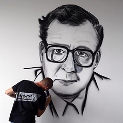 MOUARF-COMMISSION (The Mouarf) Tags: mouarf themouarf graffiti portrait noiretblanc artiste