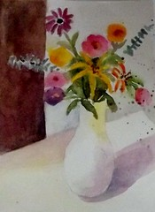 FLOWERS FOR JULY (BonnieBuchananKingry) Tags: flowers white floral paintings vase bouquet