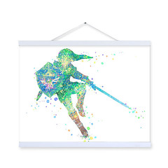 Freeshipping Original Watercolor Zelda Legend Kids Bedroom Modern Abstract Wall Art Decor Pop Games A4 Poster Prints Canvas Paintings Gifts by TheMildArt (Mild Art) Tags: art poster print painting canvas frame design original mild home decoration wall etsy shop for themildart
