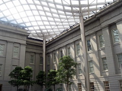 Upper Portion of Corner of Robert and Arlene Kogod Courtyard (Autistic Reality) Tags: building art museum architecture portraits greek smithsonian dc washington districtofcolumbia gallery district si capital center columbia structure normanfoster portraiture npg nationalportraitgallery institution revival smithsonianinstitution greekrevival saam portraitgallery americanart patentoffice robertmills adolfcluss thomasuwalter smithsonianamericanartmuseum oldpatentofficebuilding americanartmuseum patentofficebuilding donaldwreynoldscenter donaldwreynoldscenterforamericanartandportraiture donaldwreynolds americanportraiture hartmancoxarchitects grunleywalshconstructionco