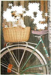 La bicyclette / Good Friends (Leonisha) Tags: puzzle unfinished jigsawpuzzle