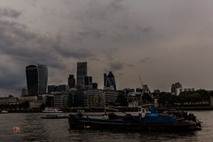 London City (Ntino Photography) Tags: uk london skyline skyscrapers outdoor ships riverbank riverthames cloudysky sigma1020mm eveningphoto supershots gherkintower canon600d