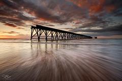 Whoosh (Steve Clasper) Tags: uk sunset beach coast pier north coastal northern northeast backwash hartlepool steetley steveclasper