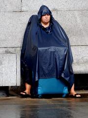 Cruel Summer (Terry Moran aka Tezzer57) Tags: uk urban man london rain trafalgarsquare tourists londonist
