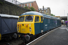 Romanian at Bury (DM47744) Tags: railroad travel blue summer heritage train grid nikon track br diesel transport group traction rail railway trains class british locomotive preserved railways elr gala 56 ruston preservation 3100 2016 eastlancashirerailway class56 56006