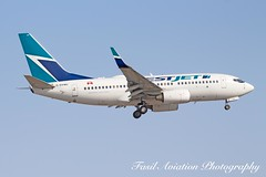 Westjet Boeing 737-7CTNG C-GVWJ (Fasil Avgeek) Tags: westjet boeing 7377ctng cgvwj air airways airlines airport yyz cyyz 737 700 next gen jet aircraft airplane airliner jetliner
