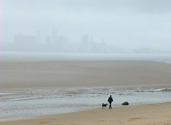 Wirral view (Thrift) Tags: merseyside wirral newbrighton rain cloud fog lowvisibility liverpool beach