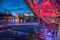 Peripheral Vision (James Neeley) Tags: london londoneye thames embankment lowlightphotography nightphotography jamesneeley