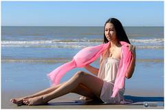 gib_beach084 (photo5720) Tags: beach lifestyle woman lovely beauty water sky sea dress sand pretty girl sun beautiful seashore outdoor portrait fotoshoot photoshoot gib model pink shawl noordzee strand ouddorp nordsee kust vakantie nikon fun mer merdunord  netherlands dutch holland