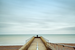 A View From The Groyne (Ralph Graef) Tags: brighton hove sussex uk england groyne symmetry figure sea shore coast beach calm serenity tranquility