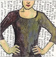 # 209 (27-07-2016) (h e r m a n) Tags: herman illustratie tekening bock oosterhout zwembad 10x10cm 3651tekenevent tegeltje drawing illustration karton carton cardboard meisje girl beeldbad 2016 kunst art