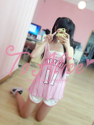 Japanese soft girl cute girl vest tube top skirt shorts sports basketball suits women's suits