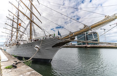 I Revisited The ARA Libertad (Q-2) Today [ I Used The Voigtlnder 15mm 4.5 Super Wide Heliar Lens]-119012 (infomatique) Tags: argentinian tallship libertad aralibertadq2 argentiniannavy williambrown guillermobrown dublin docklands augustbankholiday august foxford countymayo schoolship riosantiago cisplatinewar sony a7rm2 williammurphy infomatique zozimuz fotonique voigtlnder15mmlens voigtlnder 15mm lens